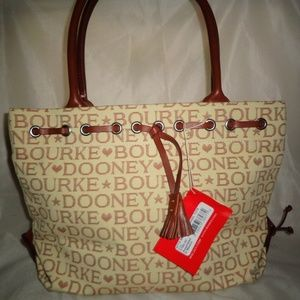 Dooney & Bourke Signature Small Tulip Tassel Tote